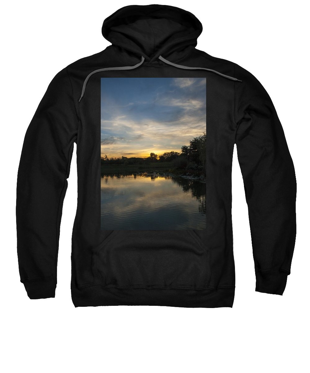 Sunset Sweatshirt featuring the photograph Sunset On The Water by Patrick Warneka