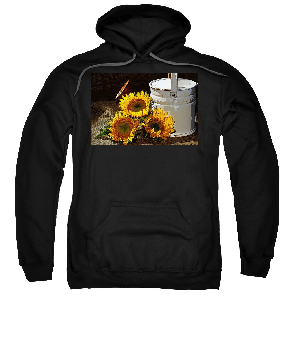 Sunflowers Sweatshirt featuring the photograph Sunshine From The Garden by Phyllis Denton