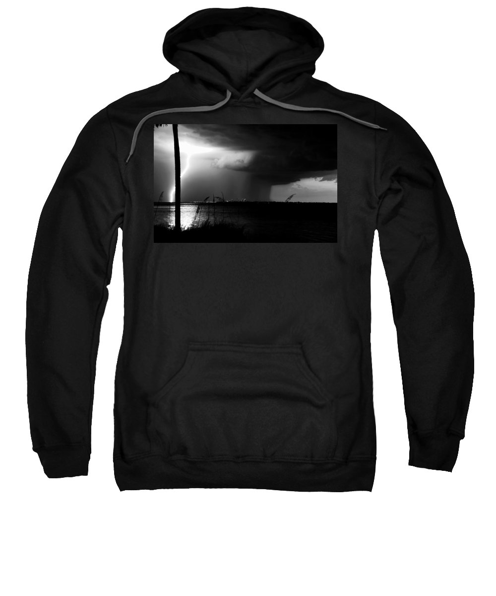 Severe Weather Sweatshirt featuring the photograph Super Cell Over Tampa Bay by David Lee Thompson