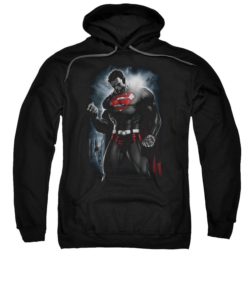 Superman Sweatshirt featuring the digital art Superman - Light Of The Sun by Brand A