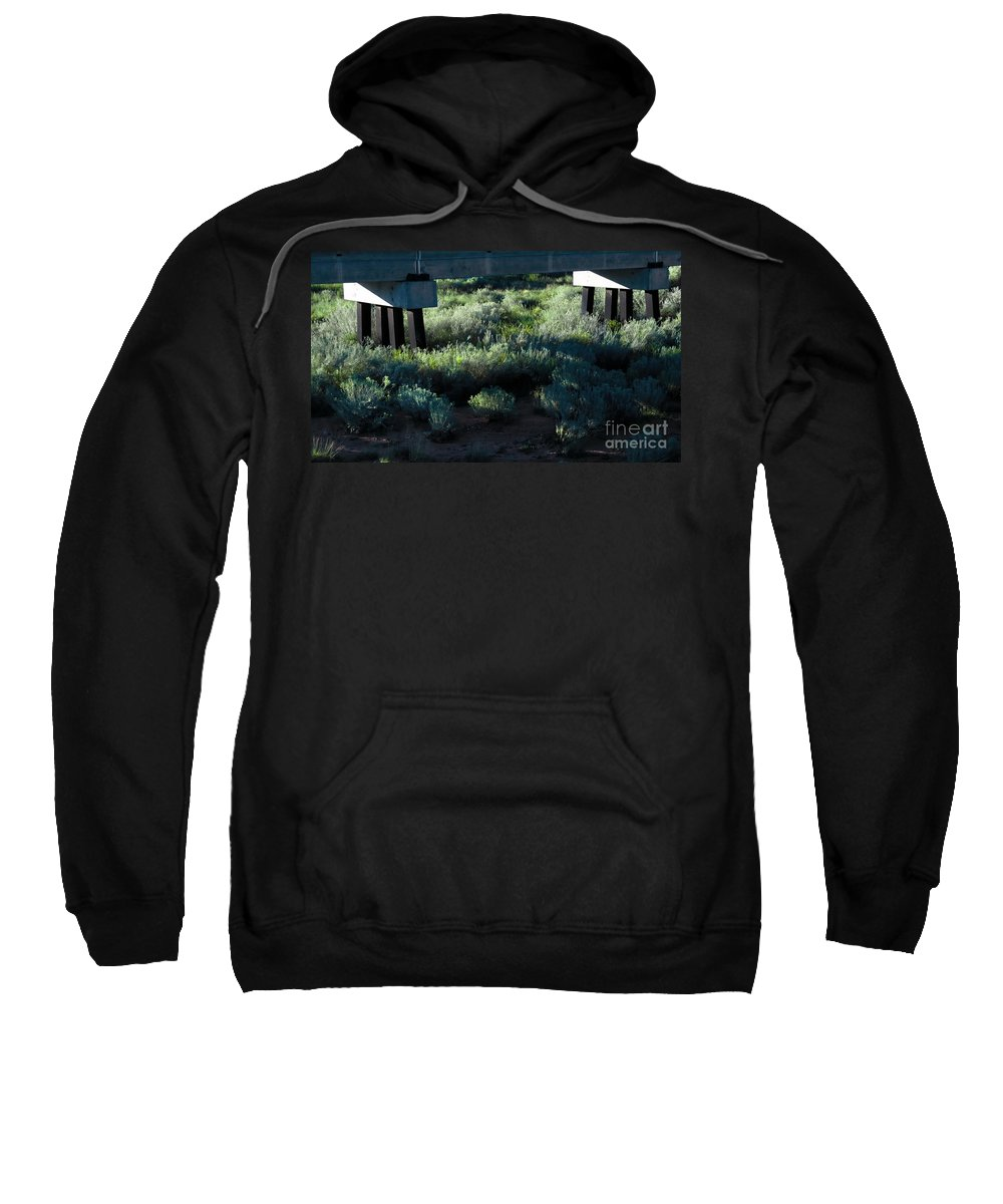 Digital Color Photo Sweatshirt featuring the digital art Supported by Tim Richards