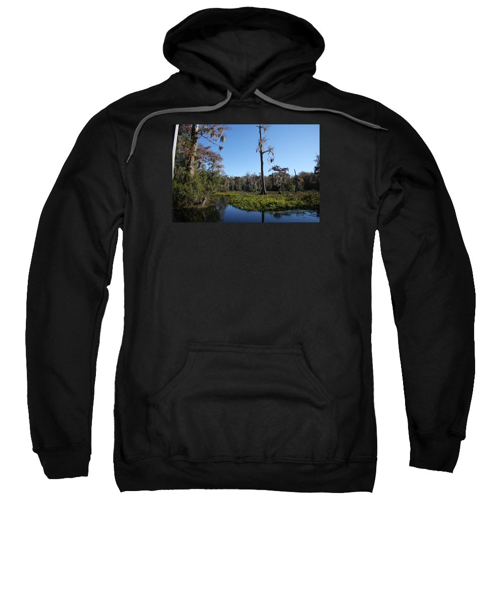 Swamp Sweatshirt featuring the photograph Don't Leave Me Behind by Christiane Schulze Art And Photography