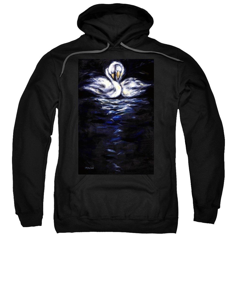 Bird Sweatshirt featuring the painting Swan by Hiroko Sakai