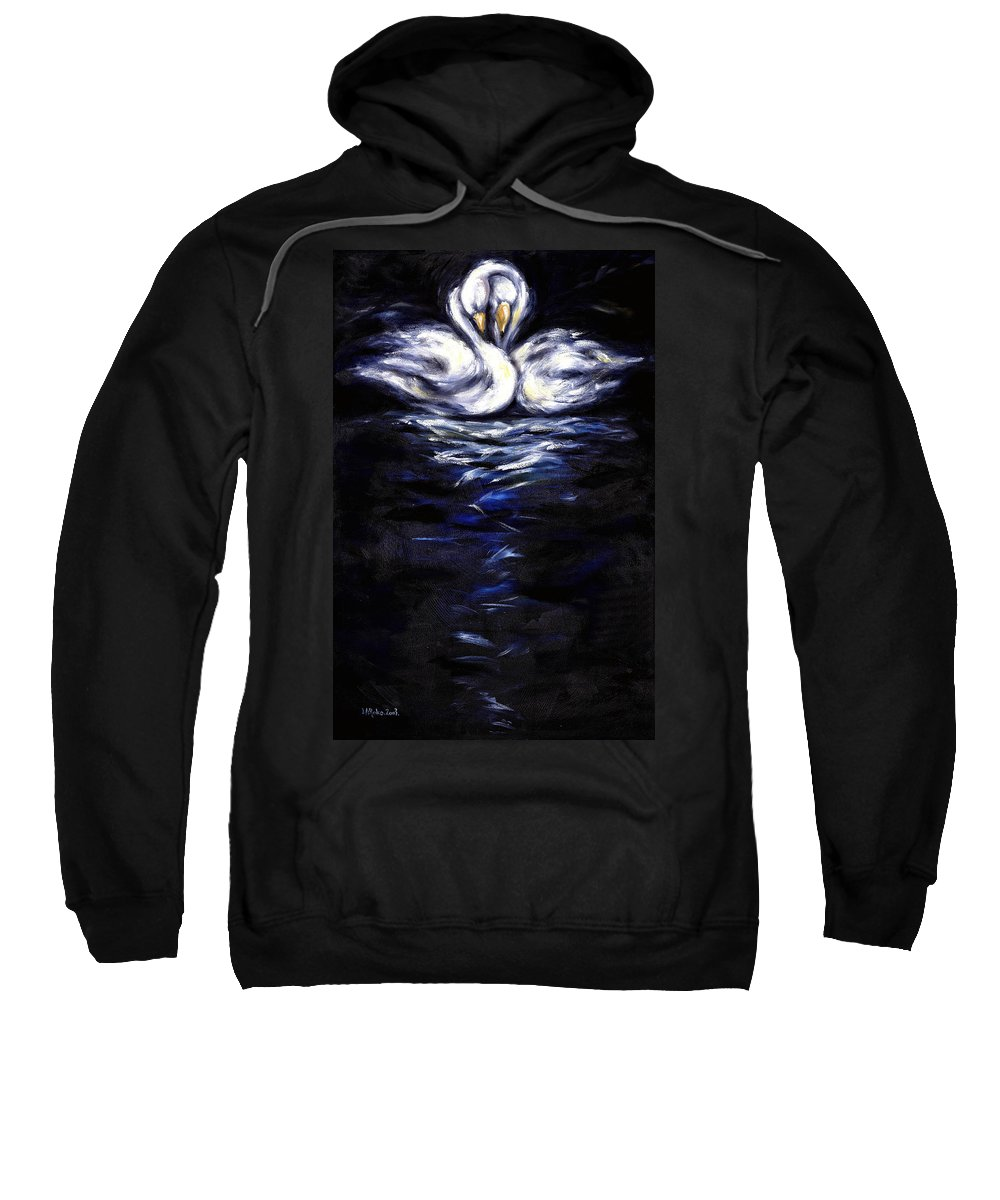 Bird Sweatshirt featuring the painting Swan by Hiroko Sakai