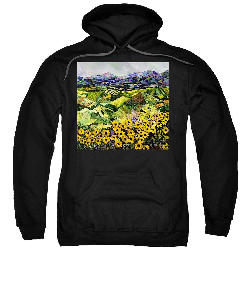 Landscape Sweatshirt featuring the painting Sweet Bluff by Allan P Friedlander