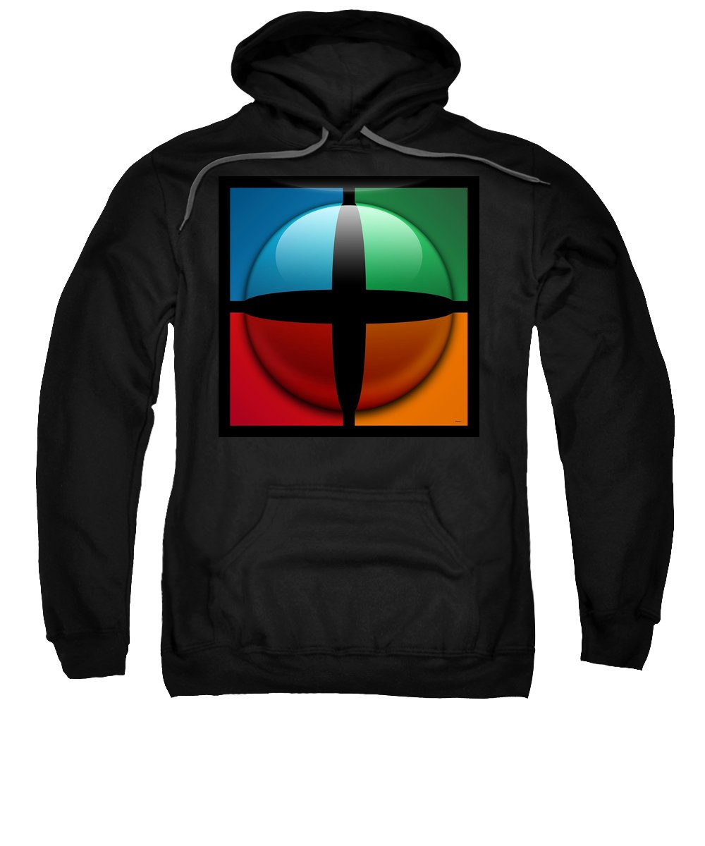 Abstract Sweatshirt featuring the digital art Sweet Spot, No. 3 by James Kramer