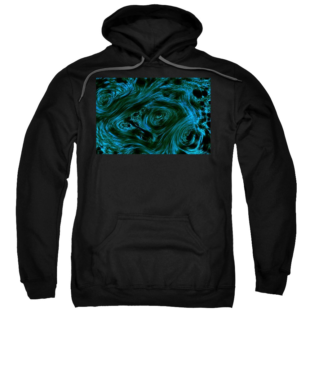 Abstract Sweatshirt featuring the photograph Swirling 3 by Robert Woodward