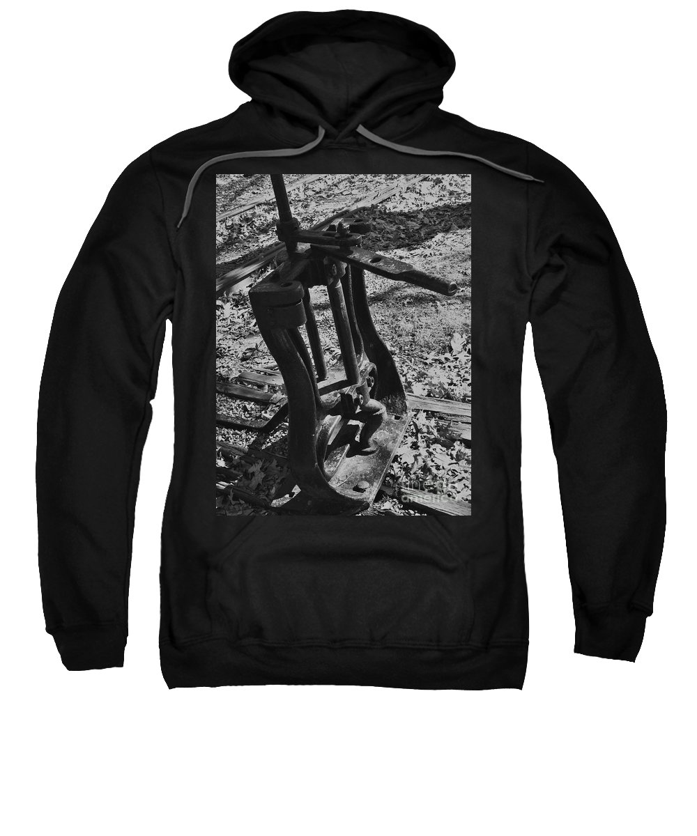 Railroad Sweatshirt featuring the photograph Switching Tracks by Sara Raber