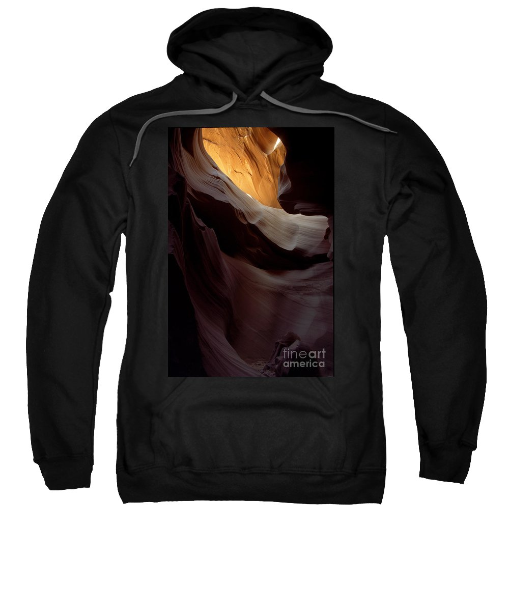 Slot Canyons Sweatshirt featuring the photograph Swopes by Kathy McClure