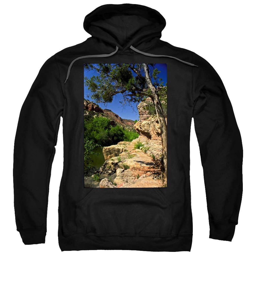 Arizona Sweatshirt featuring the photograph Sycamore Canyon by Kathy McClure