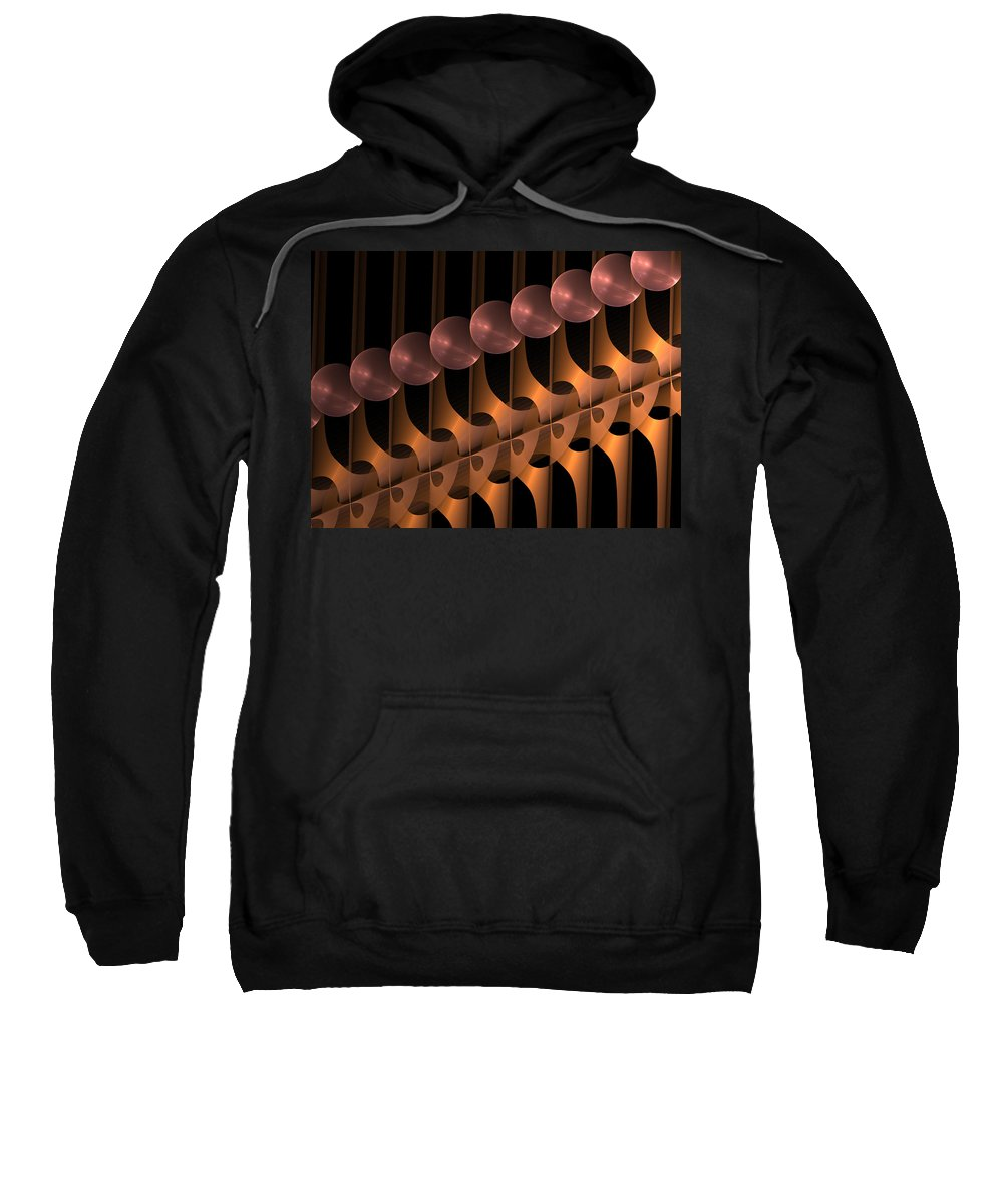 Abstract Sweatshirt featuring the digital art Symphony by Gabiw Art