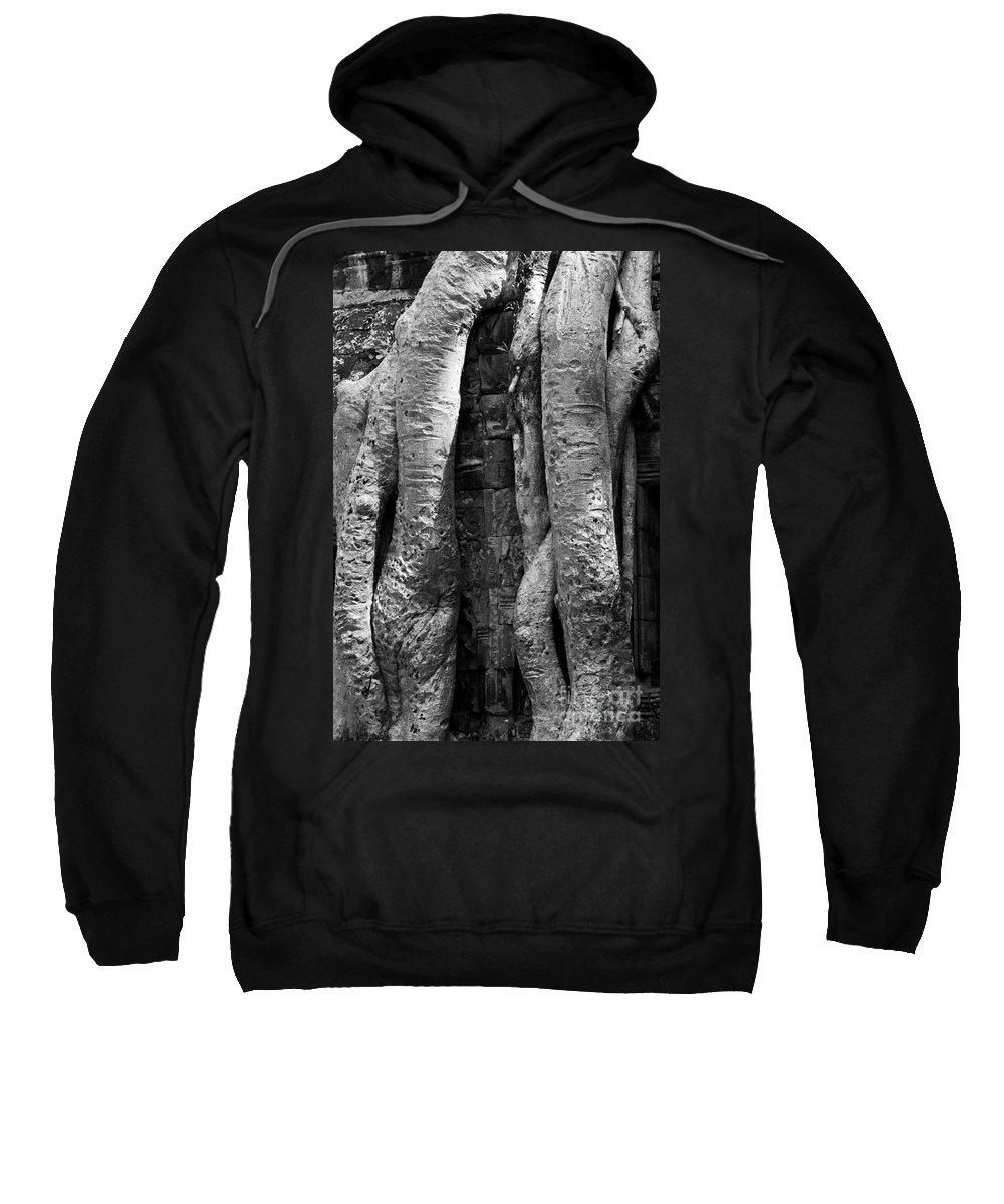 Cambodia Sweatshirt featuring the photograph Ta Prohm Roots And Stone 04 by Rick Piper Photography