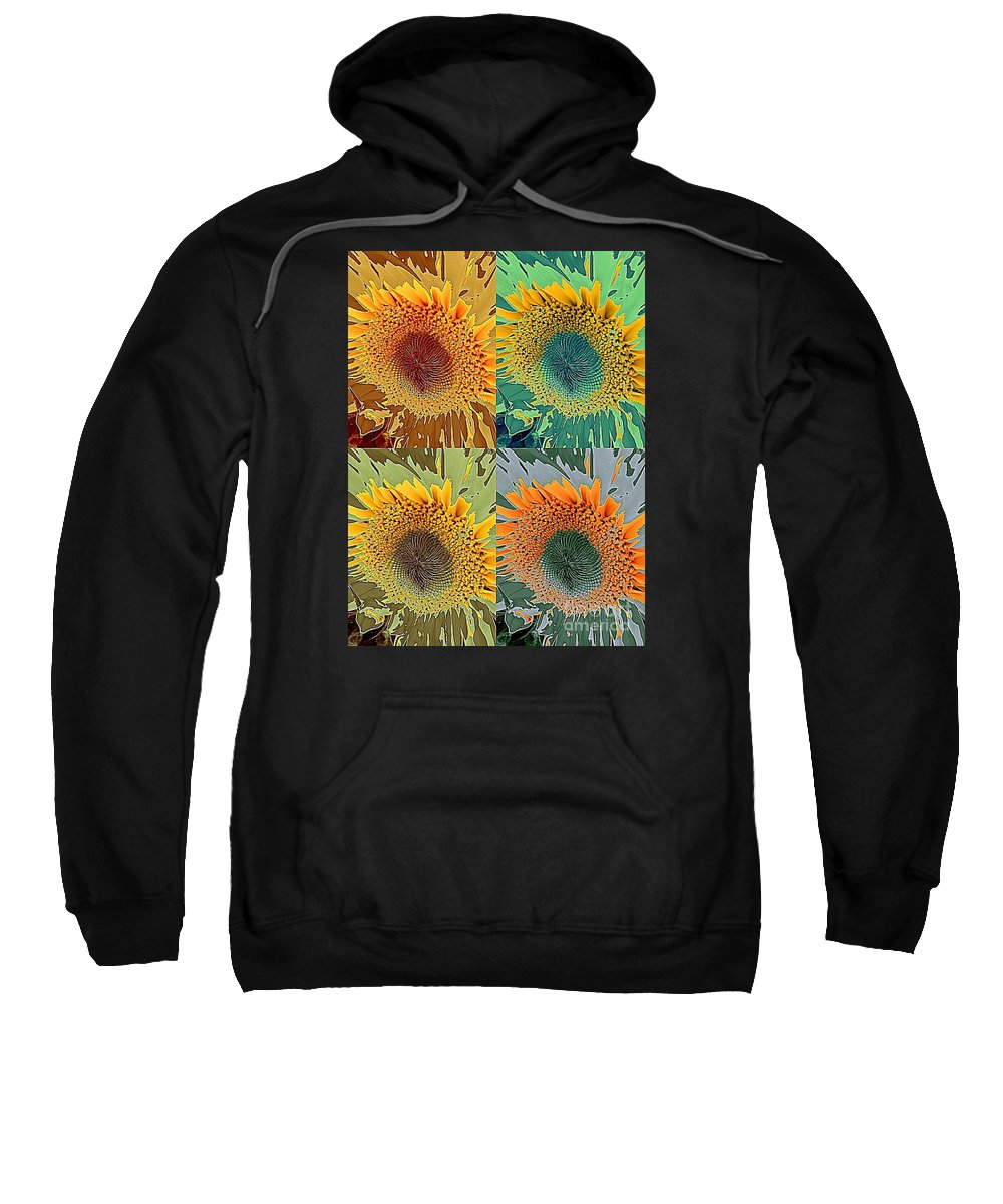 Abstract Sunflower Sweatshirt featuring the photograph Take Your Pick by Diana Chason