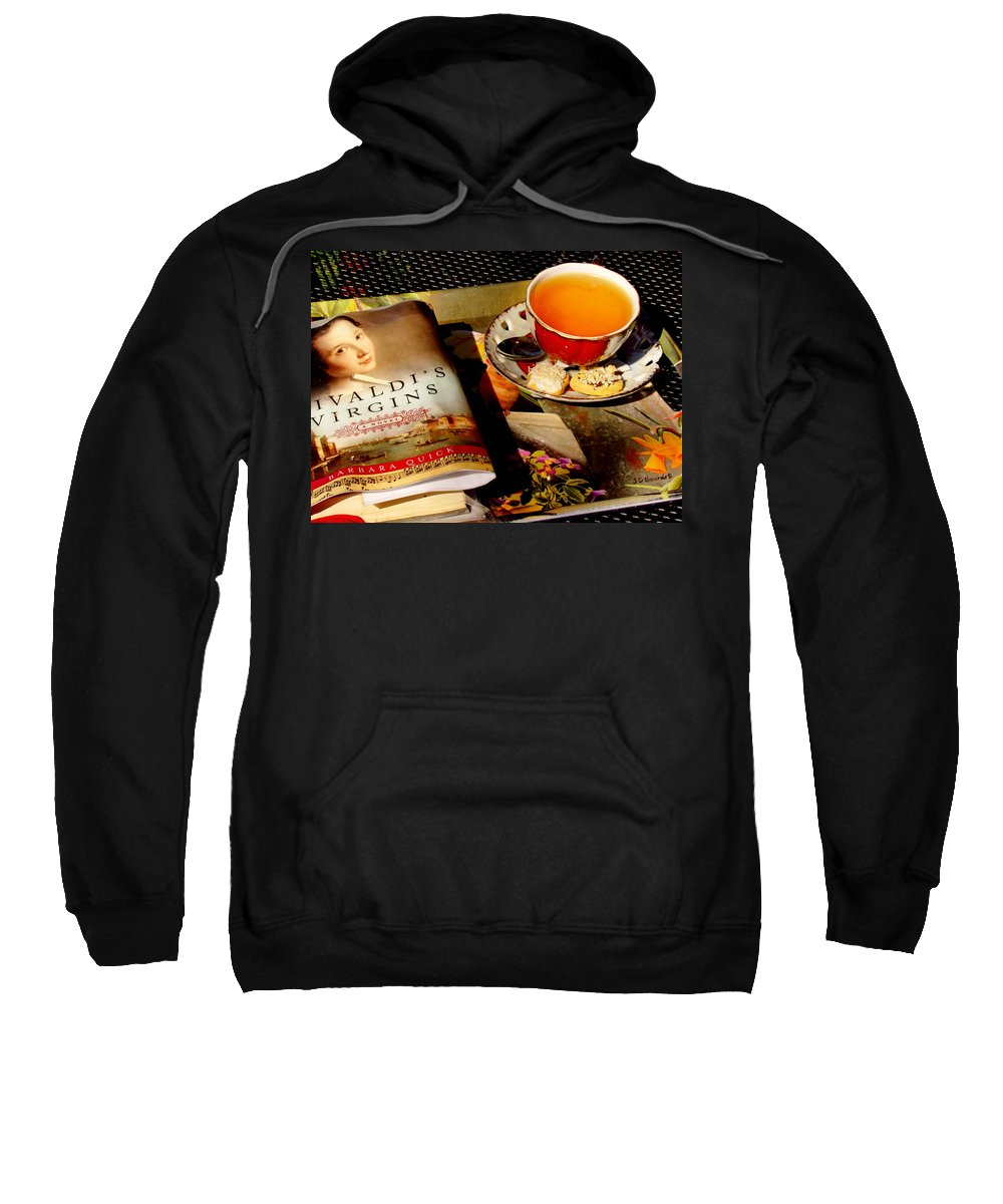 Fine Art Sweatshirt featuring the photograph Tea And A Read by Rodney Lee Williams