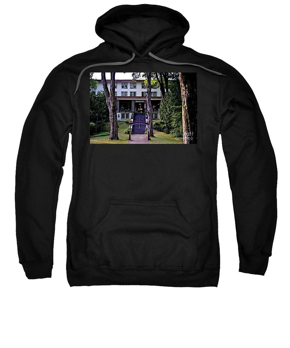 Bay View Sweatshirt featuring the photograph Terrace Inn by Joseph Yarbrough