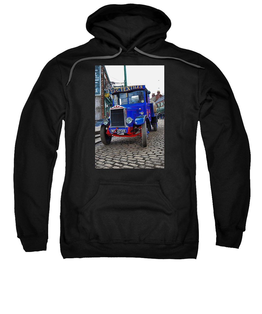 Age Od Steam Sweatshirt featuring the photograph Textile Truck Colour by John Lynch