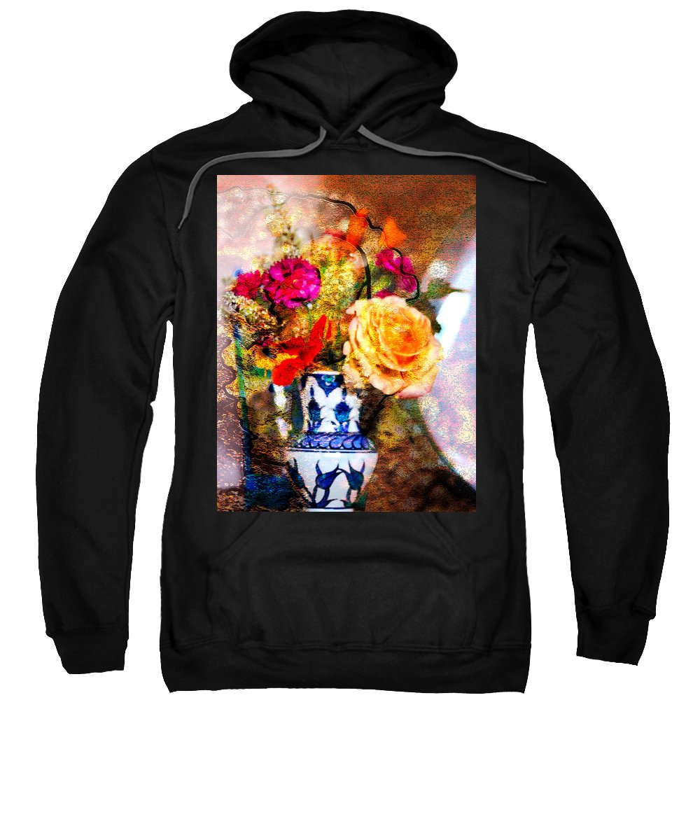 Bouquet Sweatshirt featuring the photograph Textured Bouquet by Marie Jamieson