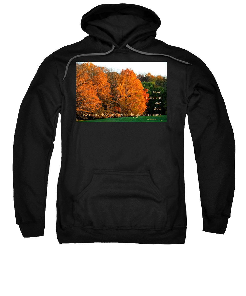 Trees Sweatshirt featuring the photograph Thank And Praise by Debbie Nobile