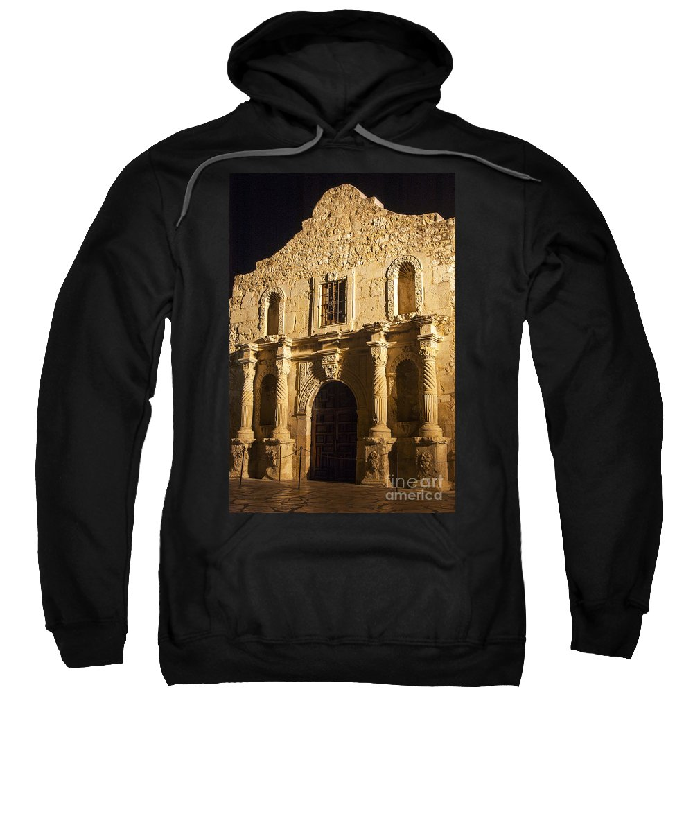The Alamo Sweatshirt featuring the photograph The Alamo by Bob Phillips
