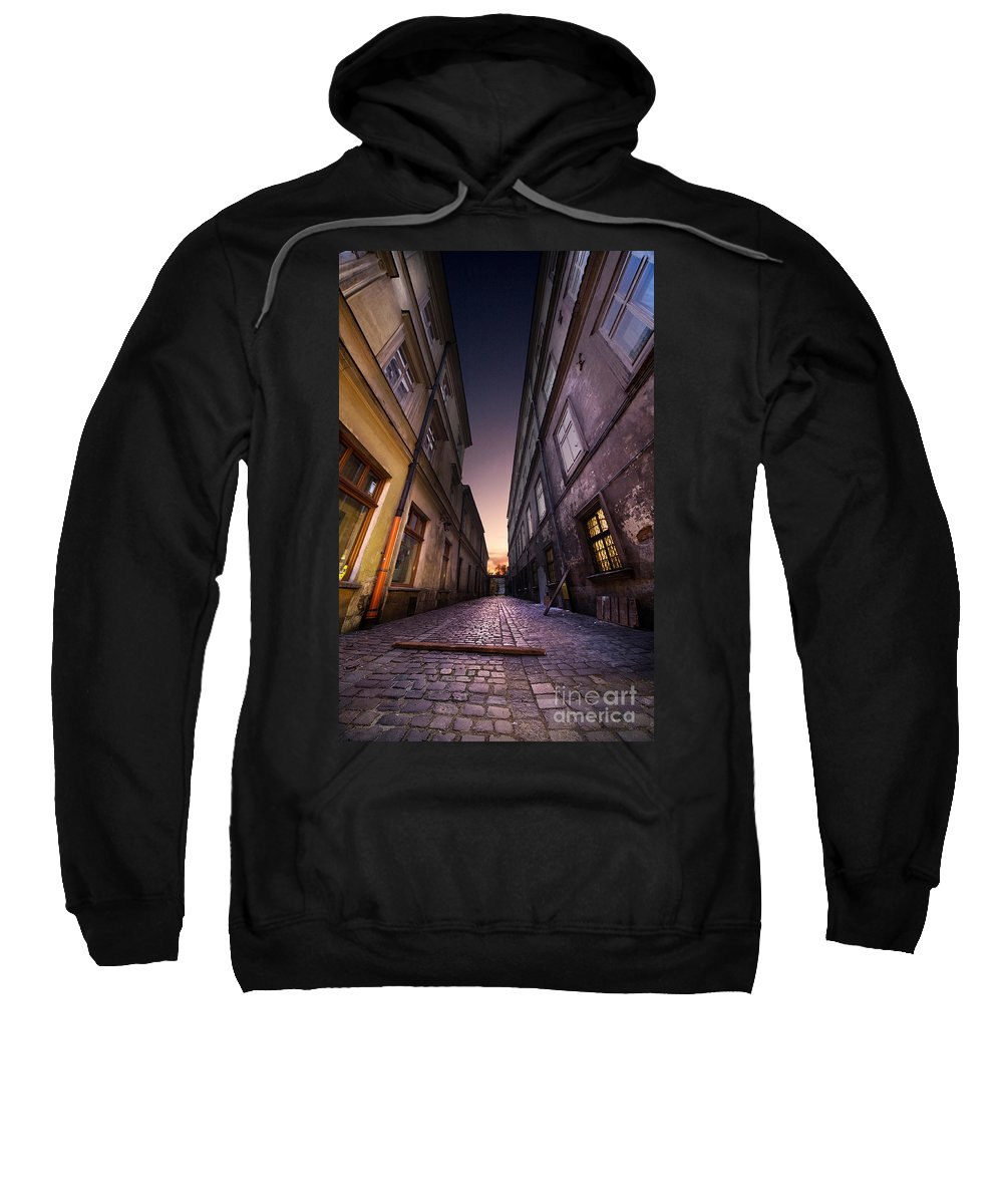Buildings Sweatshirt featuring the photograph The Alley Of Cracov by Jaroslaw Blaminsky