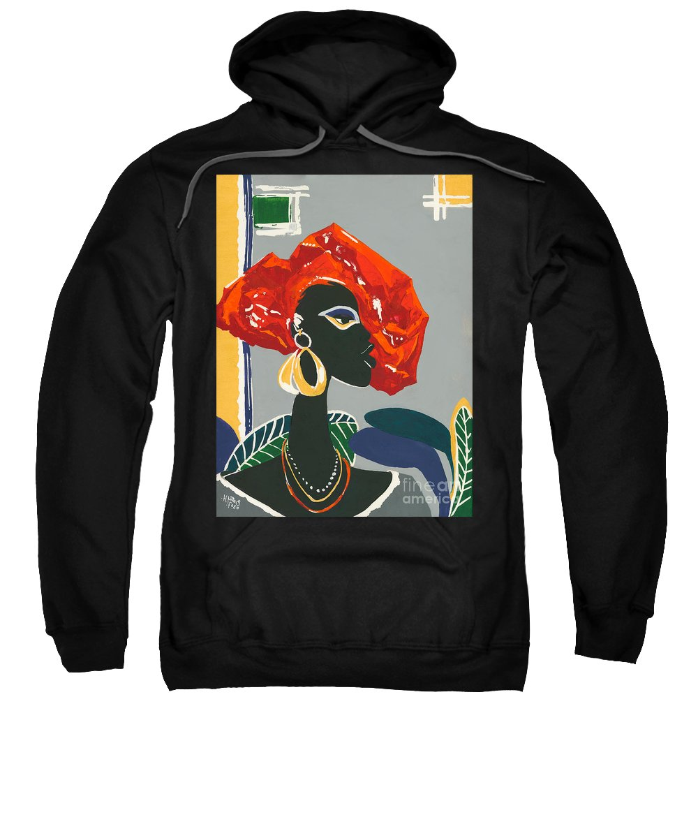 Black Sweatshirt featuring the painting The Ambassador by Elisabeta Hermann