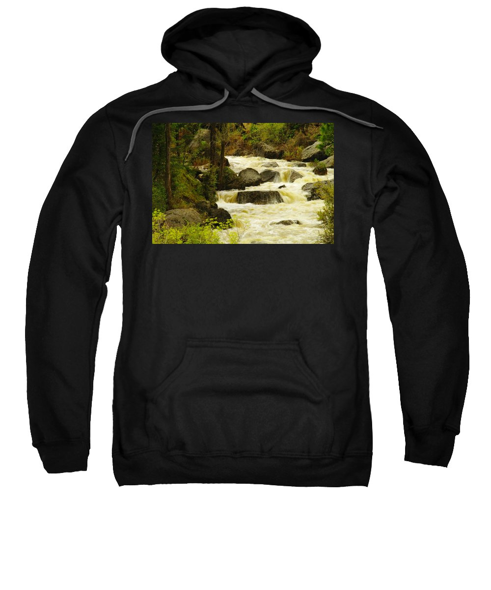 Rivers Sweatshirt featuring the photograph The Amsden River Wyoming by Jeff Swan