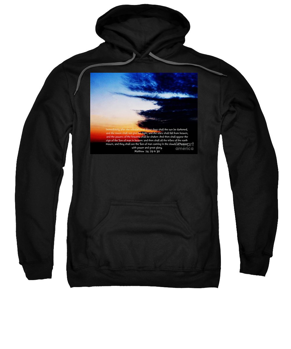 Jesus Christ Sweatshirt featuring the photograph The Bible Matthew 24 by Ron Tackett