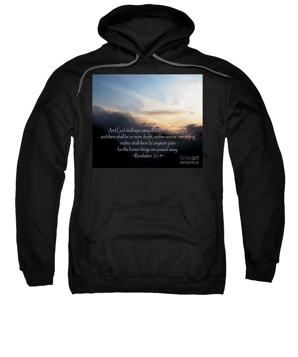 Jesus Christ Sweatshirt featuring the photograph The Bible Revelation 21 by Ron Tackett