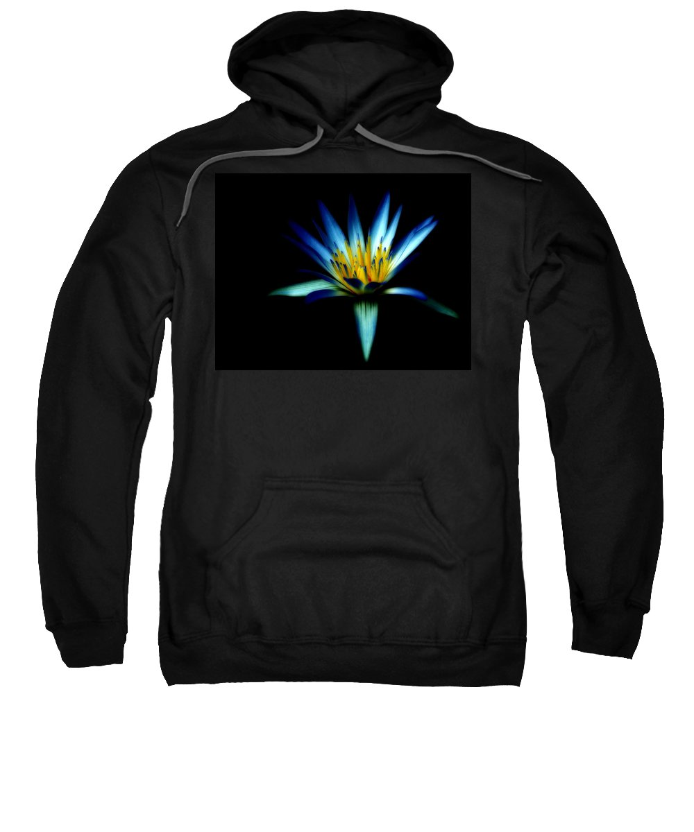 Blue Sweatshirt featuring the photograph The Blue Lotus Of Egypt by Wayne Sherriff