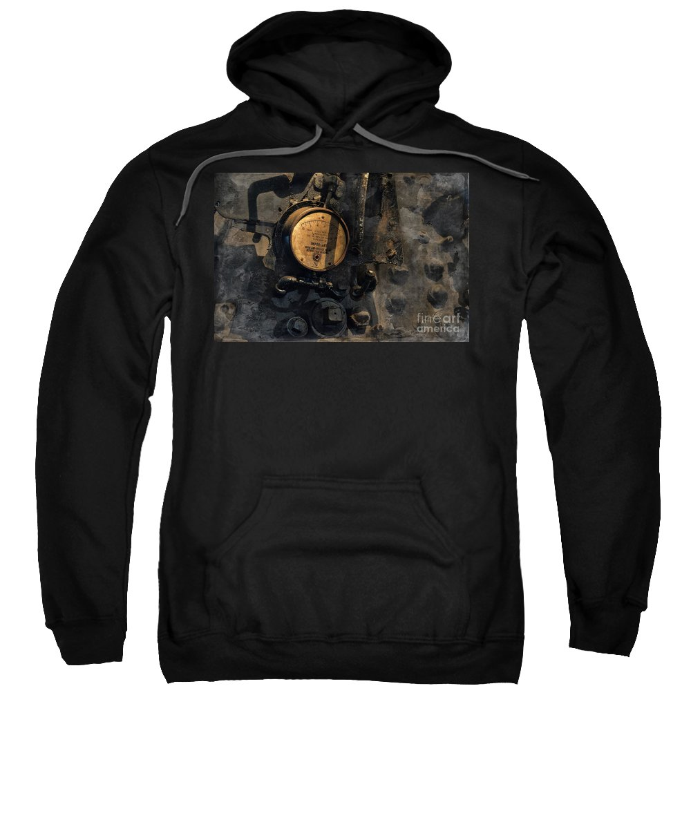 Train Sweatshirt featuring the photograph The Boiler Gauge by David Arment