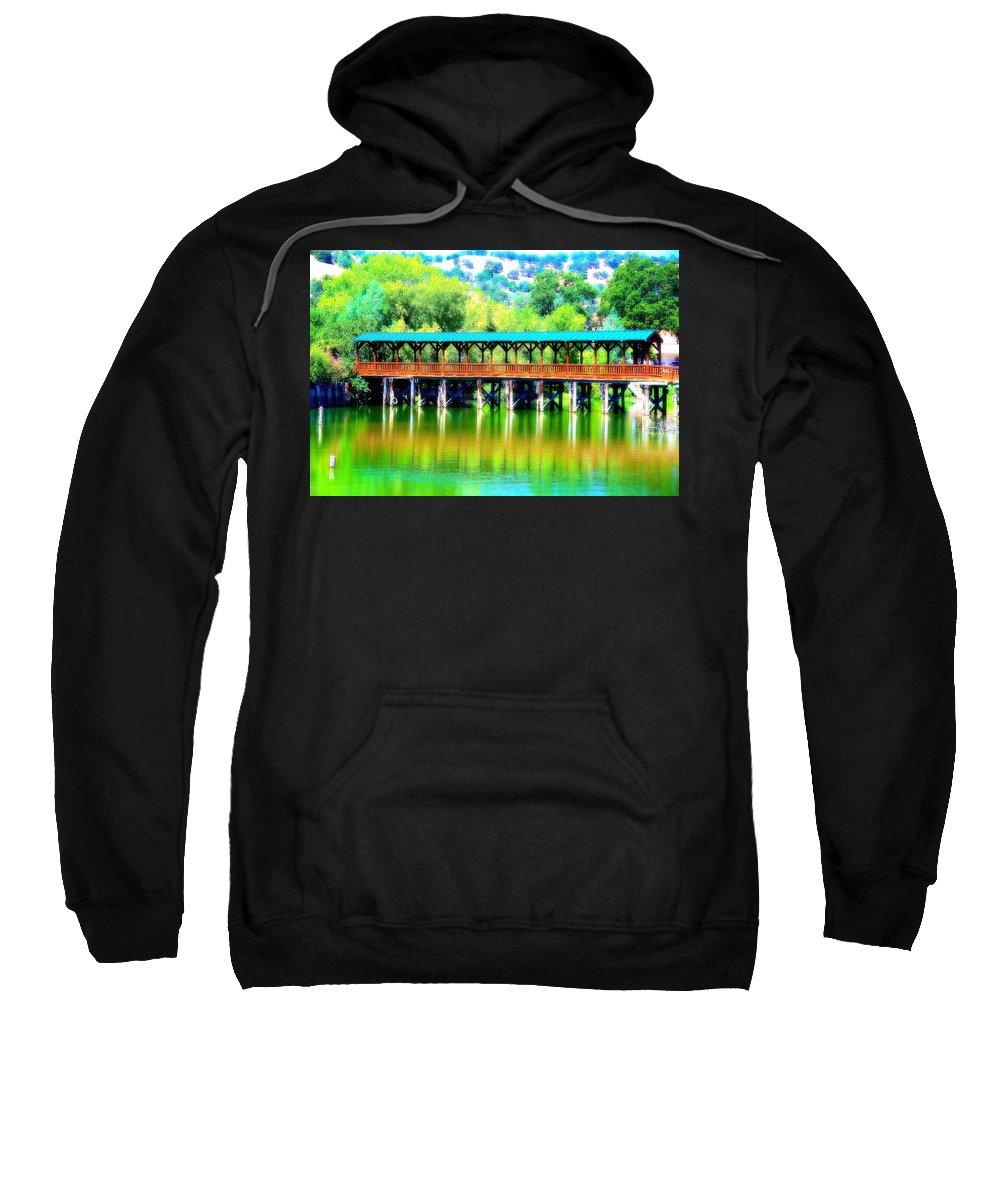 Bridge Sweatshirt featuring the photograph The Bridge 16 by Richard J Cassato