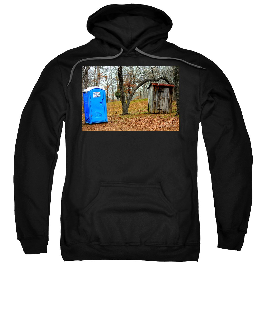 Portable Toilet Sweatshirt featuring the photograph The Choice Is Up To You by Kathy White