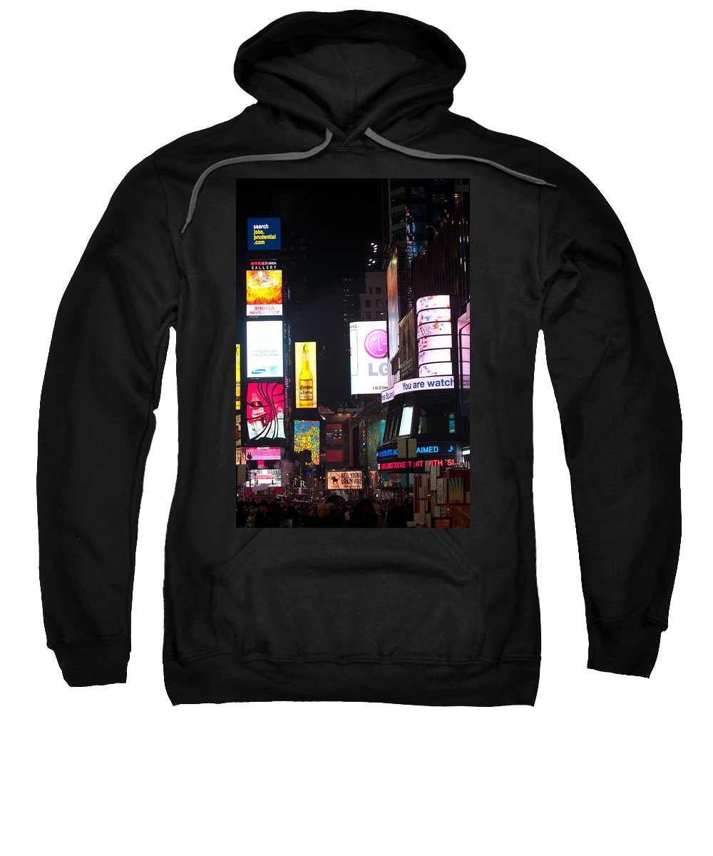"""""""new York City"""" Sweatshirt featuring the photograph The City Never Sleeps by Paul Mangold"""