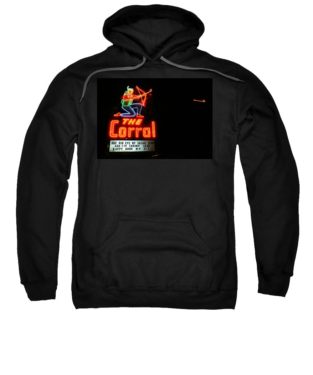 Neon Sweatshirt featuring the photograph The Corral by Jeff Mize