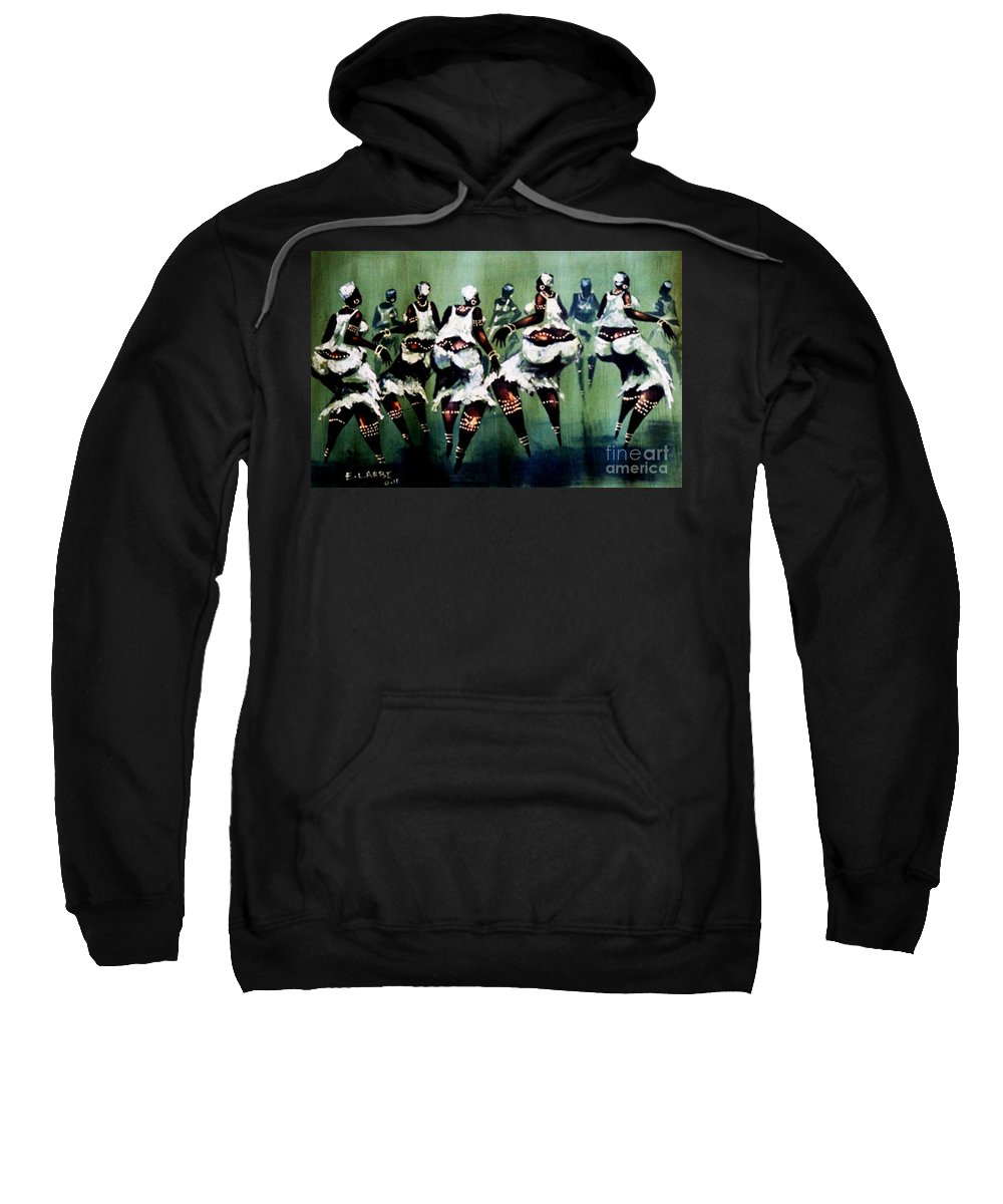 African Sweatshirt featuring the photograph The Dance by E Larbi