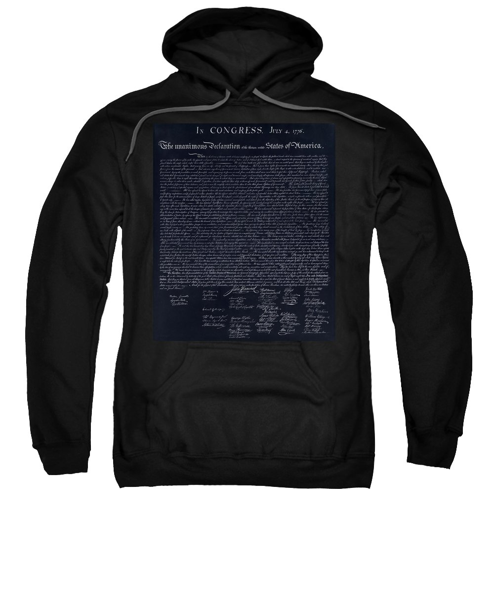 The Declaration Of Independence Sweatshirt featuring the photograph The Declaration Of Independence In Negative by Rob Hans