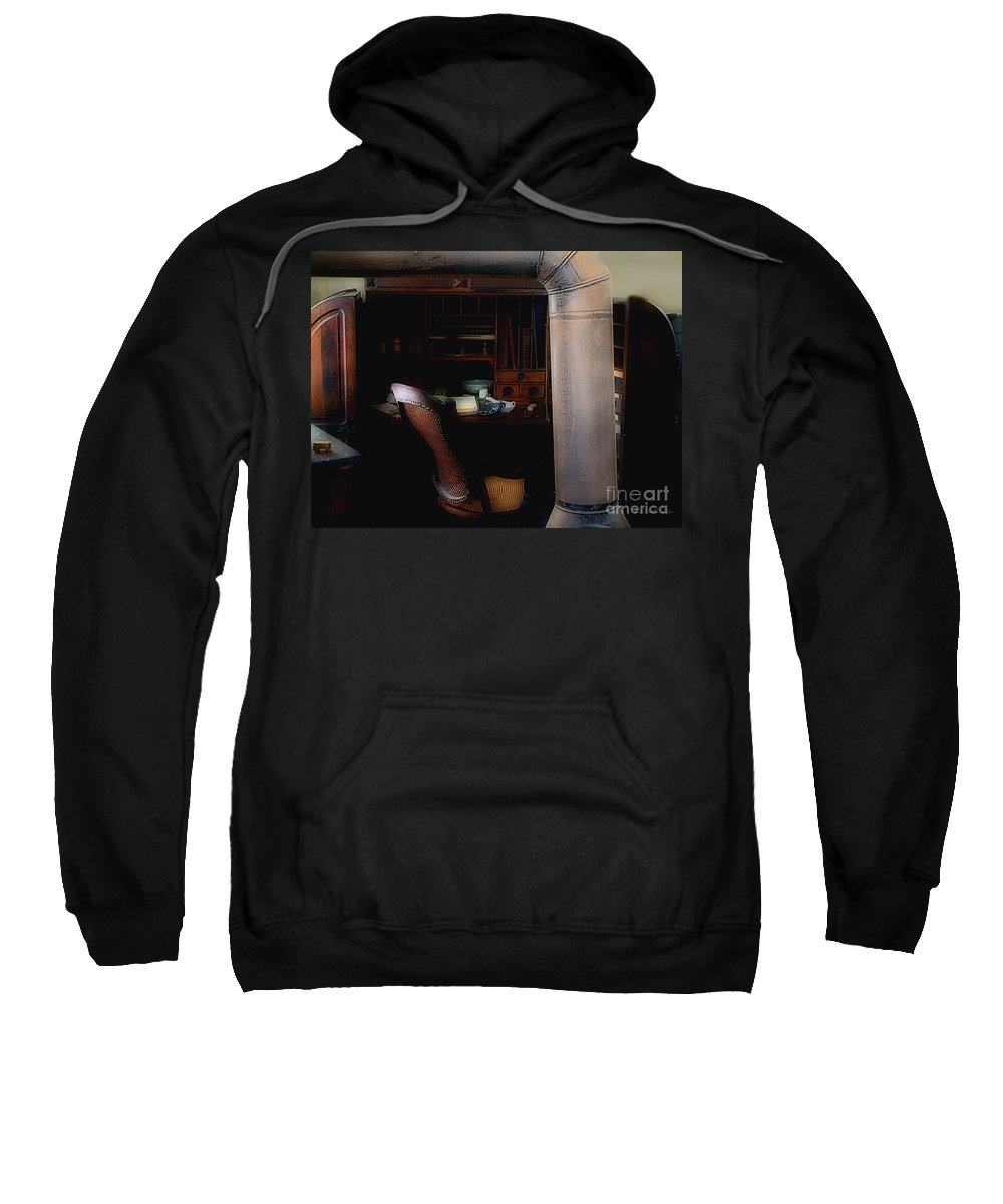 Antiques Sweatshirt featuring the painting The Doctor Is Out by RC DeWinter