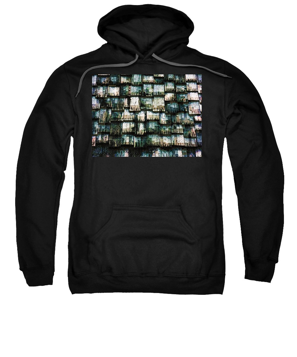 Shingle Sweatshirt featuring the photograph The Domino Roof by Steve Taylor