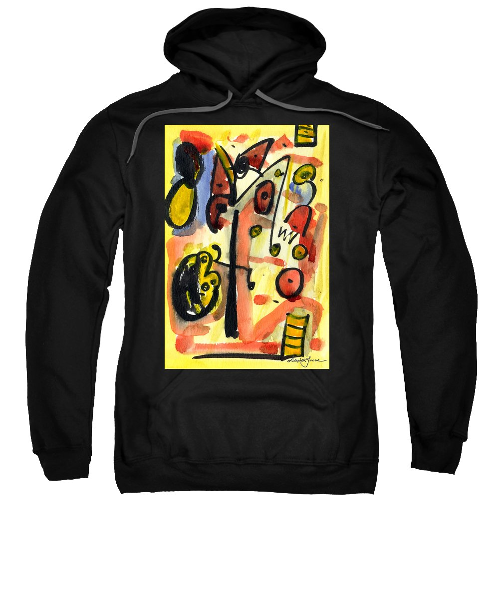 Abstract Art Sweatshirt featuring the painting The Equation by Stephen Lucas