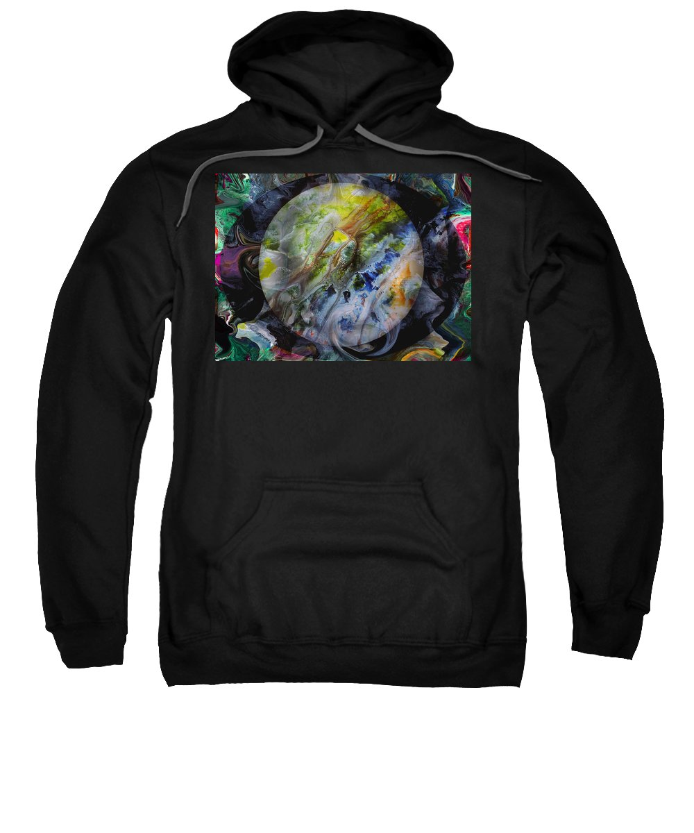 Surrealism Sweatshirt featuring the digital art The Eye Of Silence by Otto Rapp