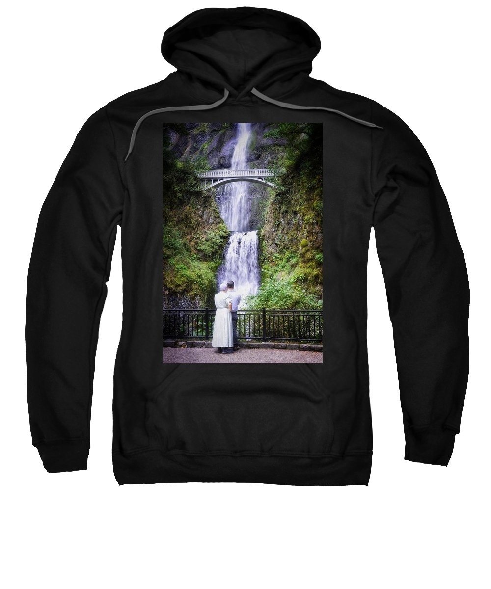 Multnomah Falls Sweatshirt featuring the photograph The First Time by Image Takers Photography LLC - Laura Morgan