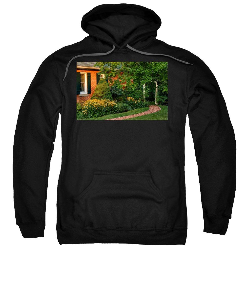 Steve Harrington Sweatshirt featuring the photograph The Garden Path by Steve Harrington