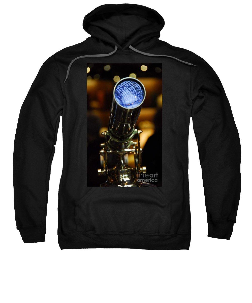 Telescope Sweatshirt featuring the photograph The Garden Telescope by Cindy Manero