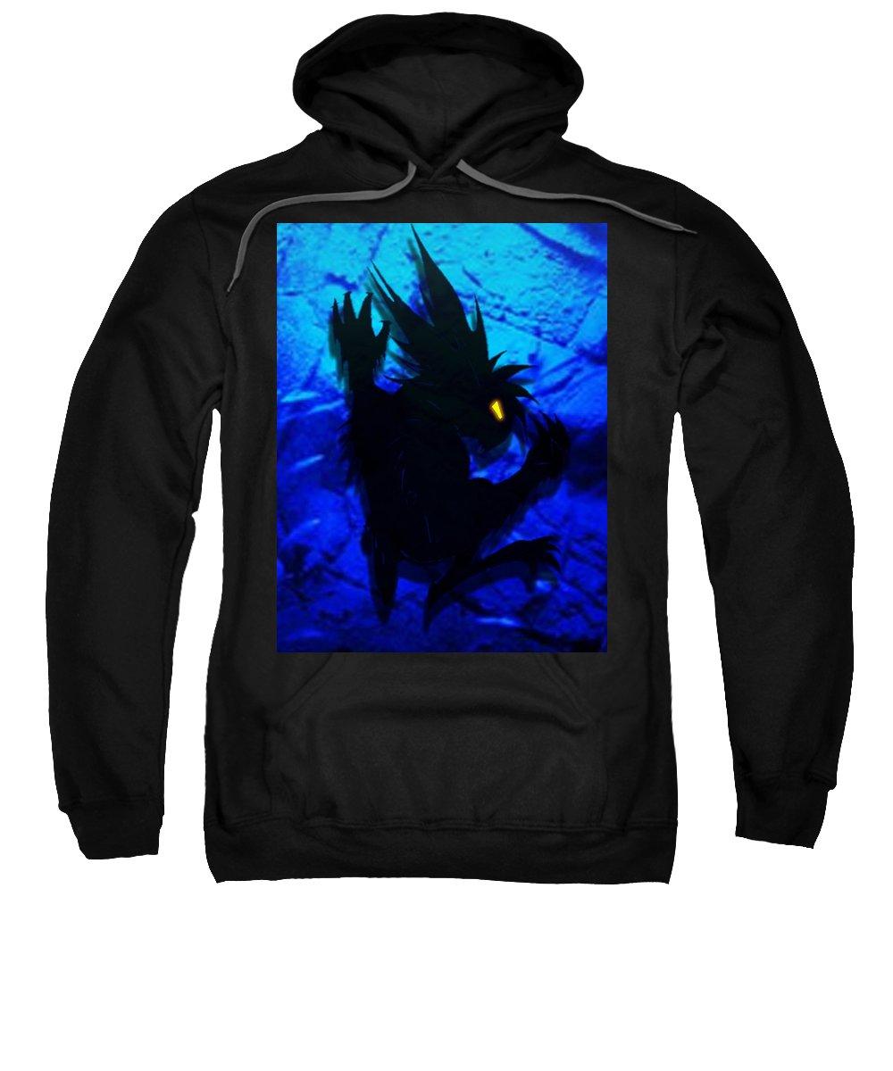 Gargoyle Sweatshirt featuring the mixed media The Gargunny by Shawn Dall