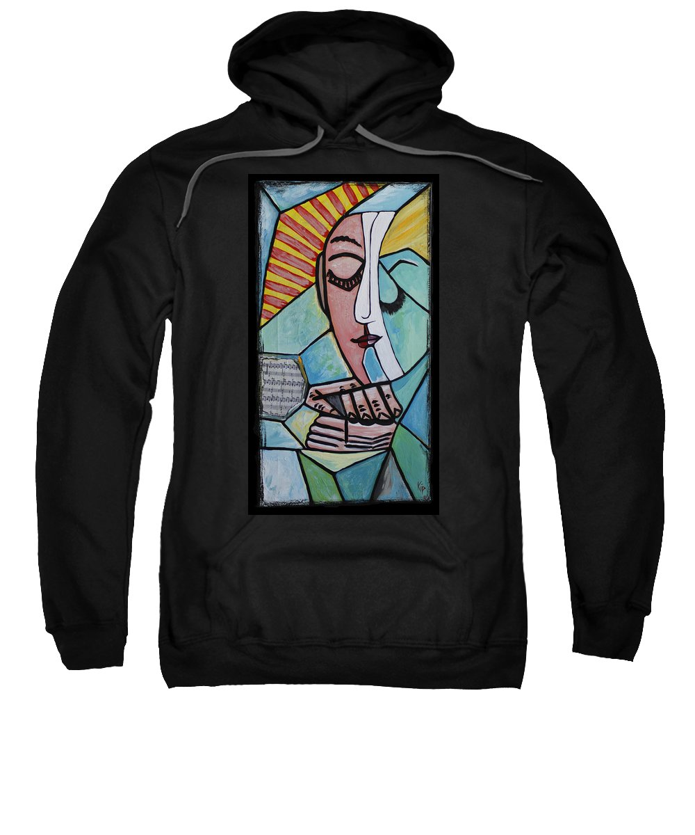 Sunshine Sweatshirt featuring the painting The Gift by Kip Krause