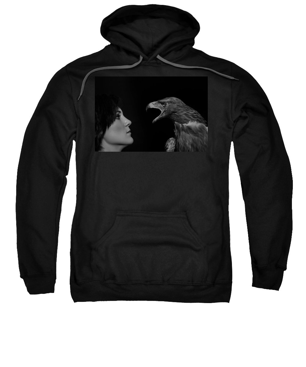 Girl Sweatshirt featuring the photograph The Glance by Igor Zeiger