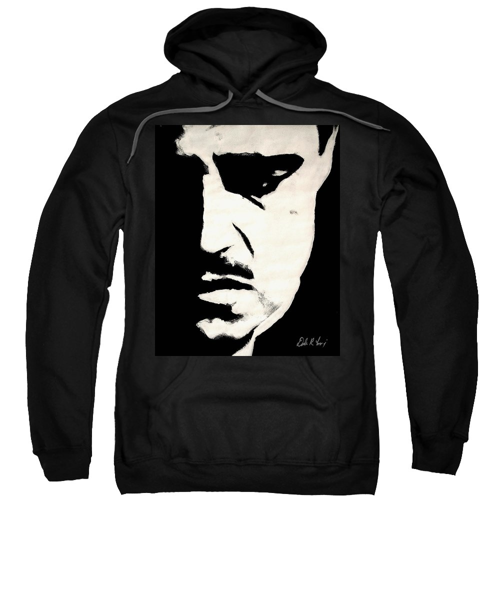 Godfather Sweatshirt featuring the painting The Godfather by Dale Loos Jr