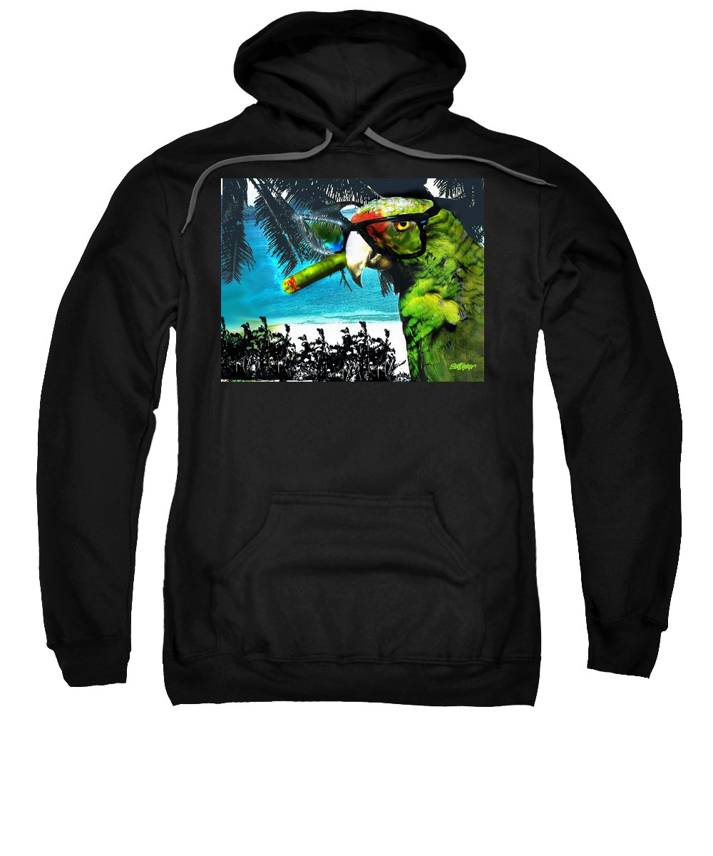 The Great Bird Of Casablanca Sweatshirt featuring the digital art The Great Bird Of Casablanca by Seth Weaver