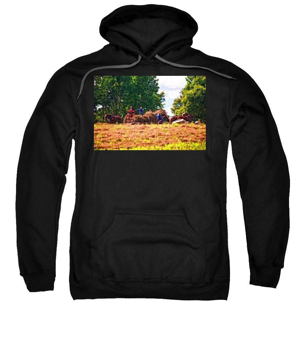 Harvest Sweatshirt featuring the photograph The Harvest Impasto by Steve Harrington