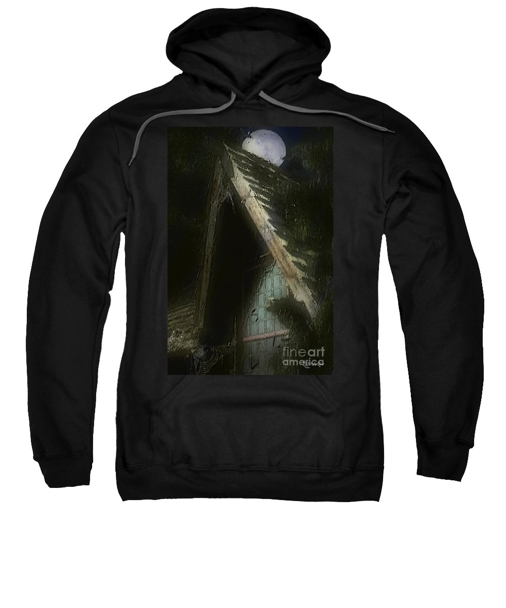 House Sweatshirt featuring the painting The Haunted Gable by RC DeWinter